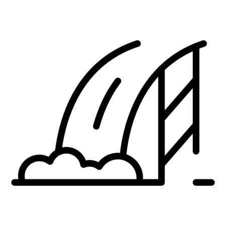 Hydroelectric dam icon, outline style