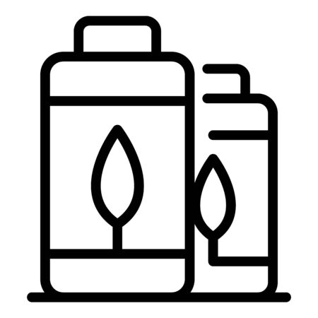 Eco batteries icon, outline style