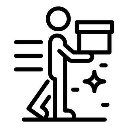 Delivery store service icon, outline style Zdjęcie Seryjne - 148988841