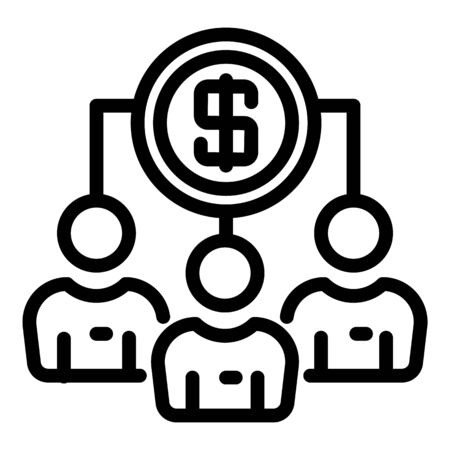Common profit icon, outline style
