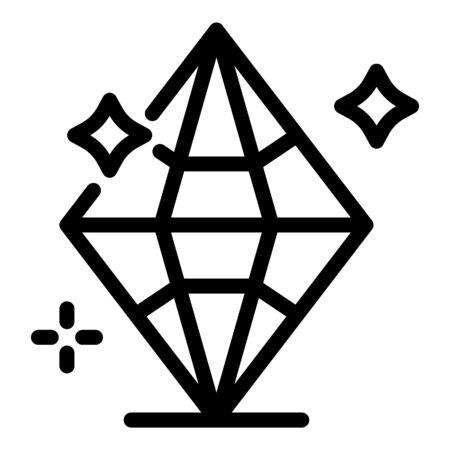 Brilliant diamond icon, outline style