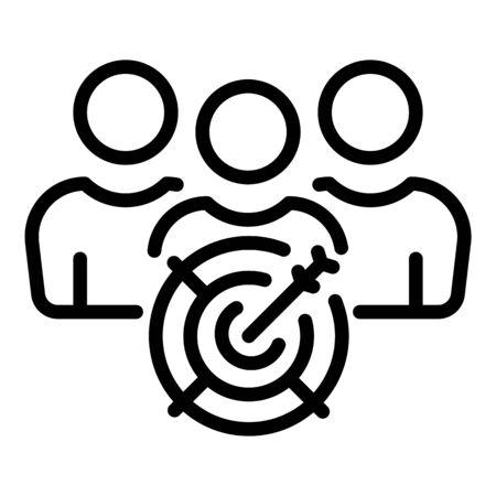 Target clients icon, outline style Illustration
