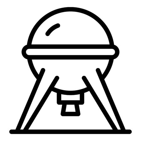 Sputnik icon, outline style