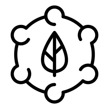 Leaf cycle icon, outline style