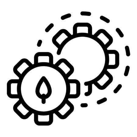 Nature mechanism icon, outline style