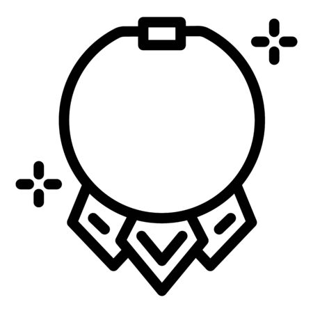 Fashion necklace icon, outline style