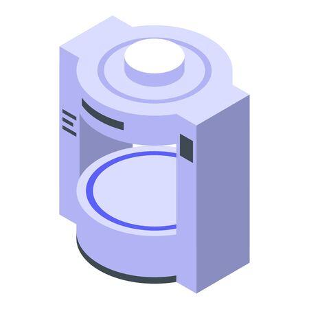 Mri scanner icon, isometric style