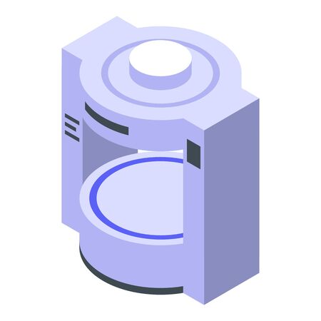 Mri scanner icon, isometric style