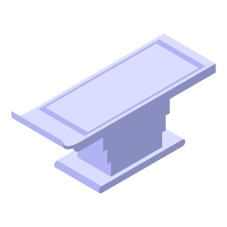 Mri steel bed icon, isometric style Illustration