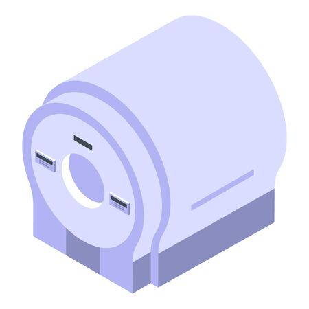 Diagnostic mri equipment icon, isometric style Ilustracja