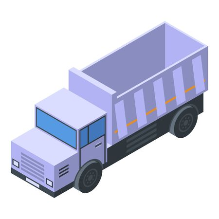 Old tipper icon, isometric style Illustration