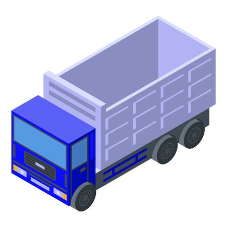 Cargo tipper icon, isometric style