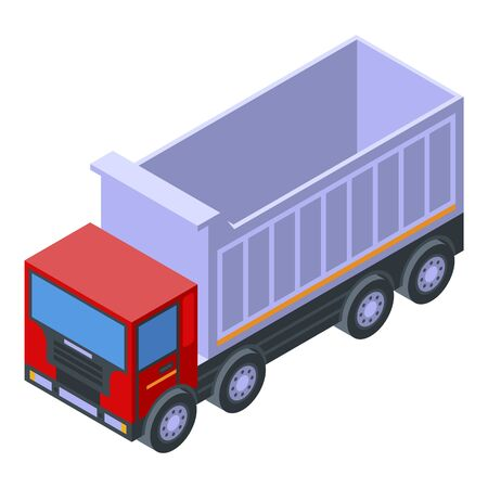 Transport tipper icon, isometric style