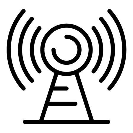 Antenna icon, outline style