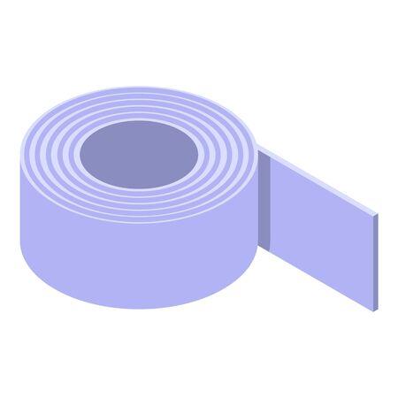 Medical plaster icon, isometric style