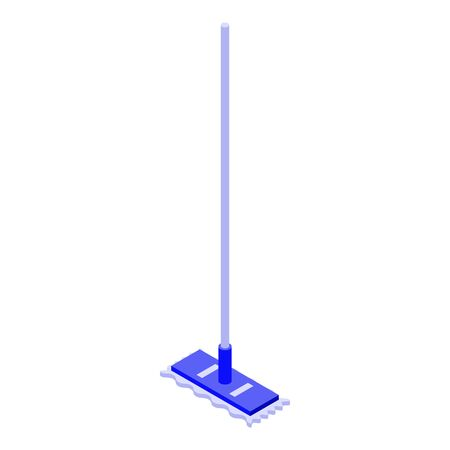 Cleaning mop icon, isometric style Vettoriali