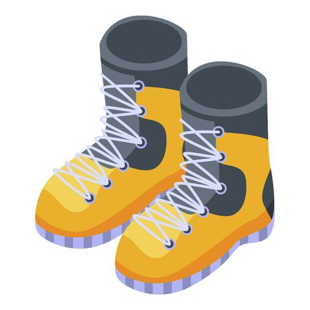 Climber boots icon, isometric style