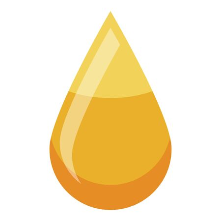 Olive oil drop icon, isometric style Stock Illustratie