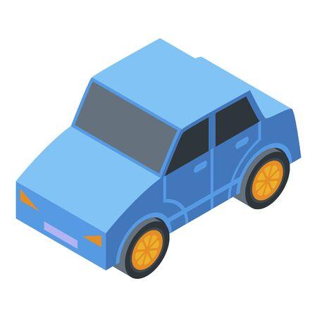 Kindergarten car toy icon, isometric style Stock Illustratie