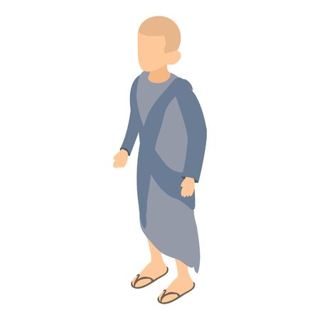 Korean monk icon. Isometric illustration of korean monk vector icon for web