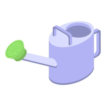 Steel watering can icon. Isometric of steel watering can vector icon for web design isolated on white background