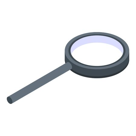 Realtor magnifier icon, isometric style Vector Illustration
