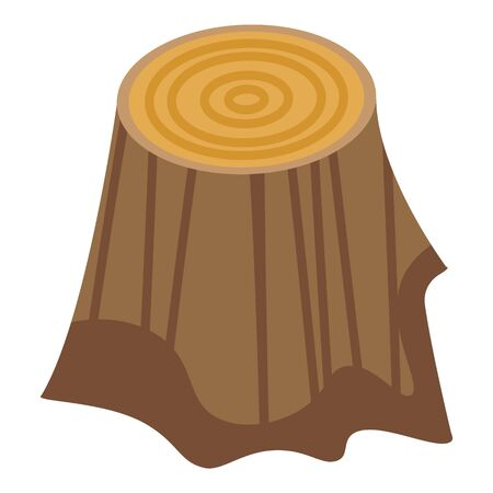 Home tree stump icon. Isometric of home tree stump vector icon for web design isolated on white background Banque d'images - 149703550