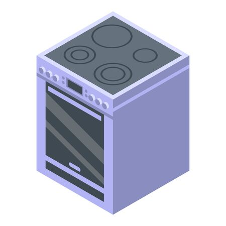 Kitchen stove icon, isometric style Ilustração