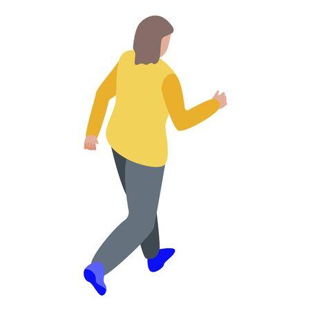 Zombie walking icon, isometric style Vetores
