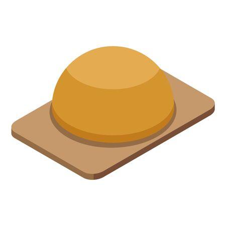 Flour bread icon, isometric style