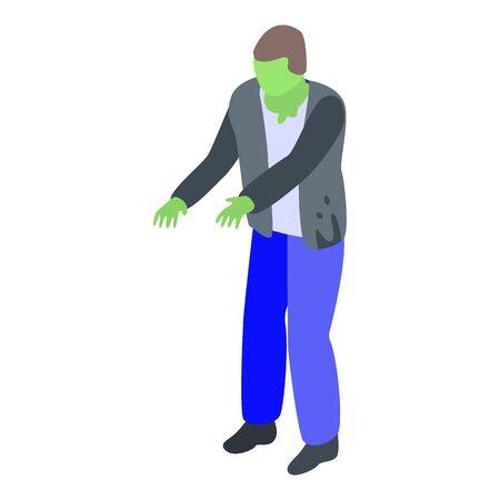 Nightmare zombie icon, isometric style Illusztráció