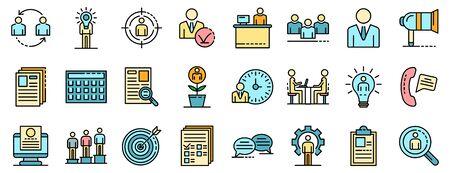 Recruitment icons set vector flat Illustration