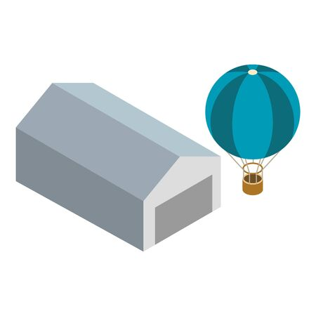 Air balloon icon. Isometric illustration of air balloon vector icon for web