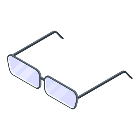 Tax inspector eyeglasses icon, isometric style