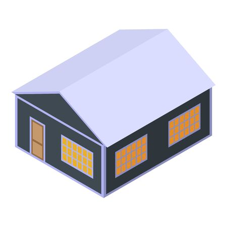 House under tax icon, isometric style