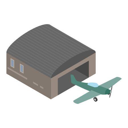 Screw plane icon. Isometric illustration of screw plane vector icon for web