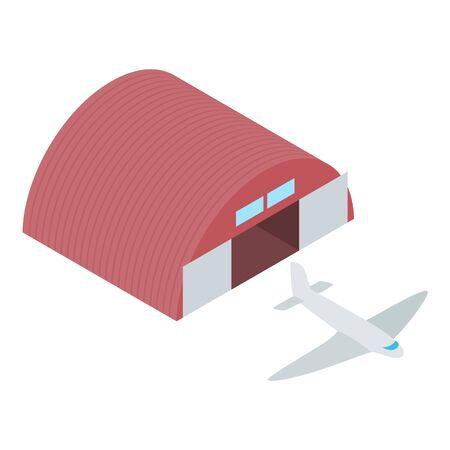 Passenger plane icon. Isometric illustration of passenger plane vector icon for web