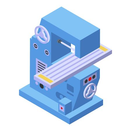 Electric milling machine icon. Isometric of electric milling machine vector icon for web design isolated on white background Vector Illustratie