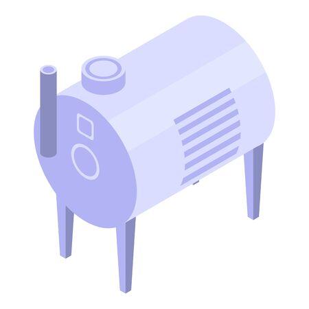 Winemaker equipment icon. Isometric of winemaker equipment vector icon for web design isolated on white background Illustration