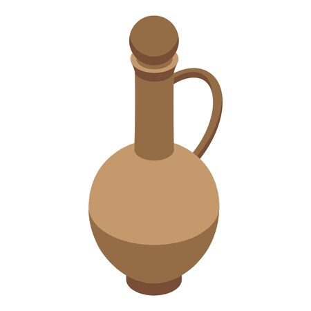 Wine jug icon. Isometric of wine jug vector icon for web design isolated on white background 向量圖像