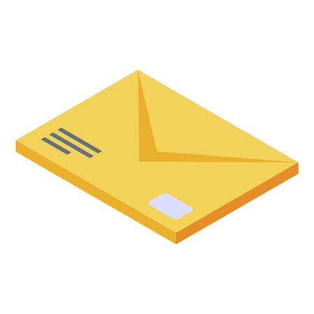 Courier delivery mail icon, isometric style