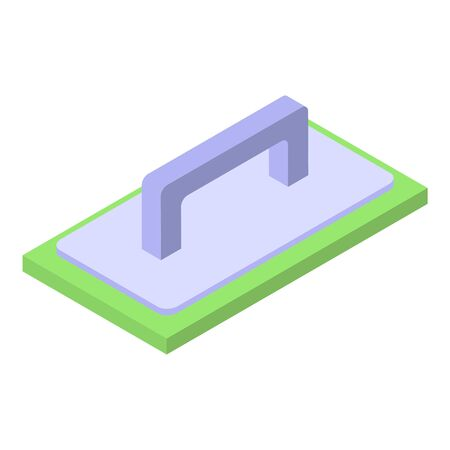Putty knife icon, isometric style