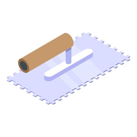Putty knife equipment icon. Isometric of putty knife equipment vector icon for web design isolated on white background Illustration