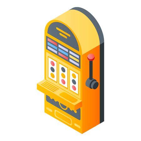 Slot machine icon, isometric style