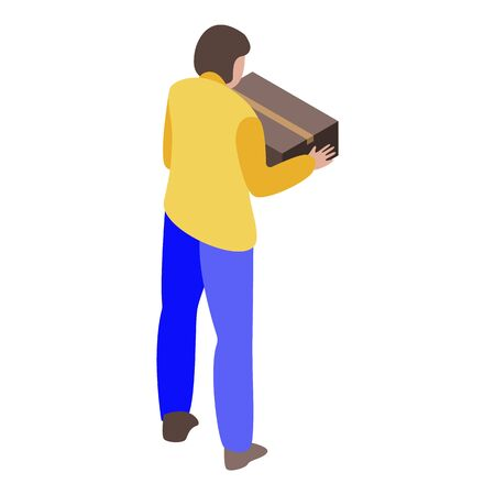 Client receive parcel icon, isometric style Çizim
