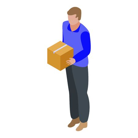 Parcel delivery icon, isometric style Vecteurs