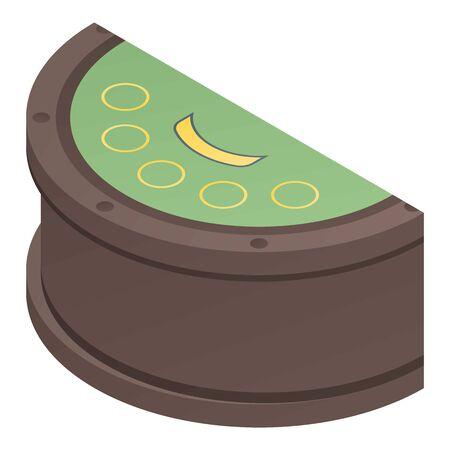 Pocker casino table icon, isometric style