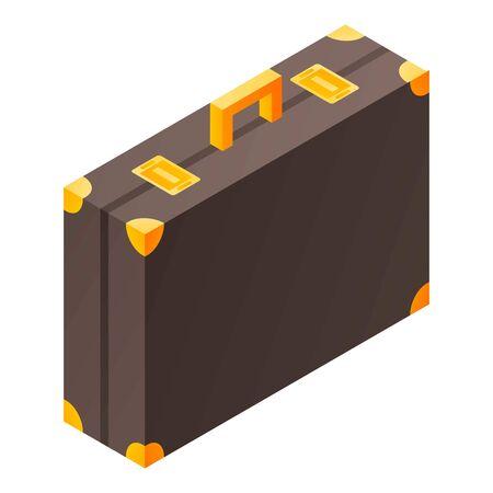 Butler suitcase icon, isometric style  イラスト・ベクター素材
