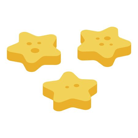 Cereal flakes stars icon, isometric style Ilustração