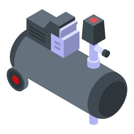 Cold air compressor icon, isometric style Stock Illustratie